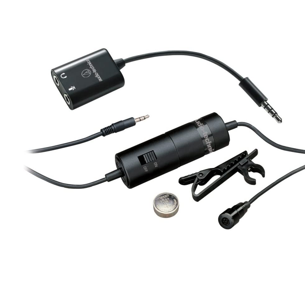 adn broadcast ATR3350iS Omnidirectional Condenser Lavalier Microphone for Smartphones